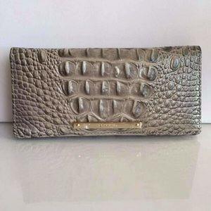NWT Brahmin Ady Embossed Leather Light Wallet